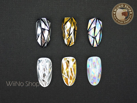 Gold Silver Rainbow Film Nail Art Decoration - 1 pc