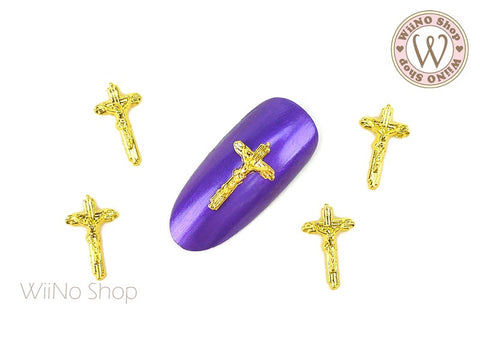 Jesus Cross Nail Metal Charm - 2 pcs (JC02G)