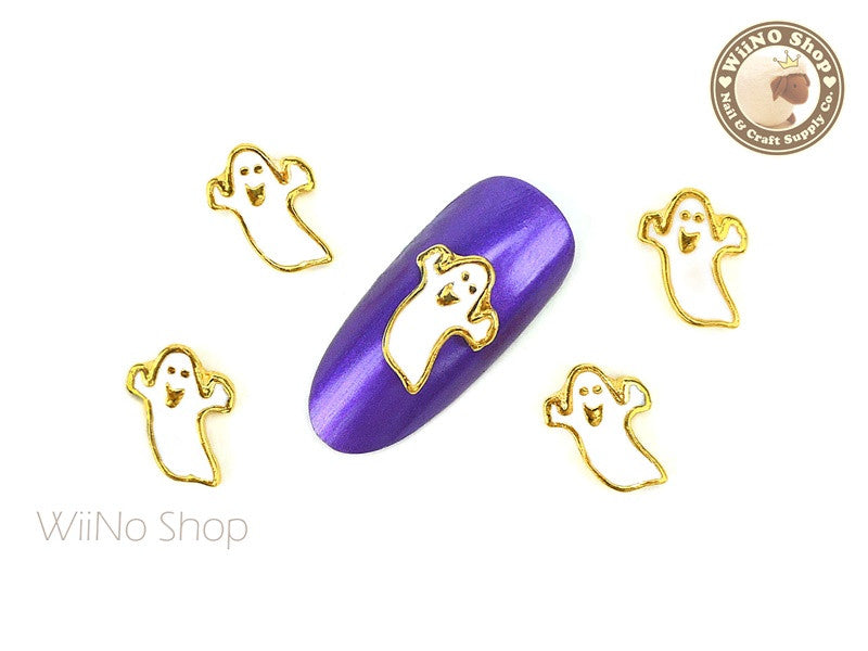 Boo Ghost Nail Metal Charm - 2 pcs