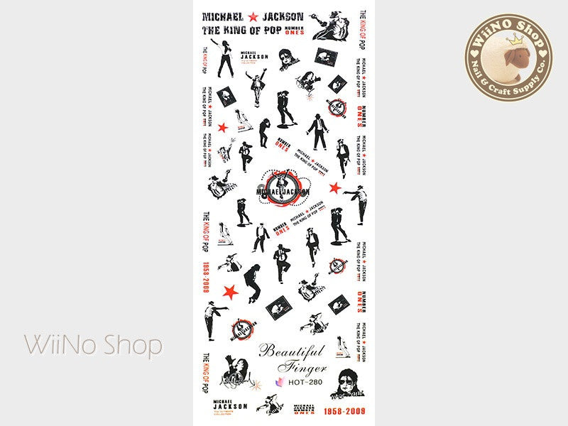 Michael Jackson Water Slide Nail Art Decals - 1pc (HOT-280)
