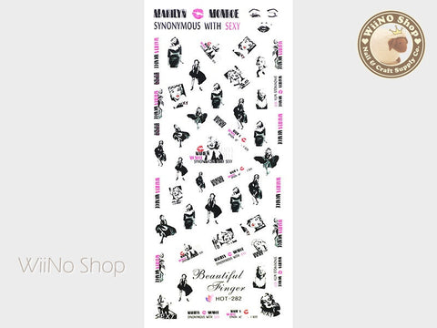 Marilyn Monroe Water Slide Nail Art Decals - 1pc (HOT-282)