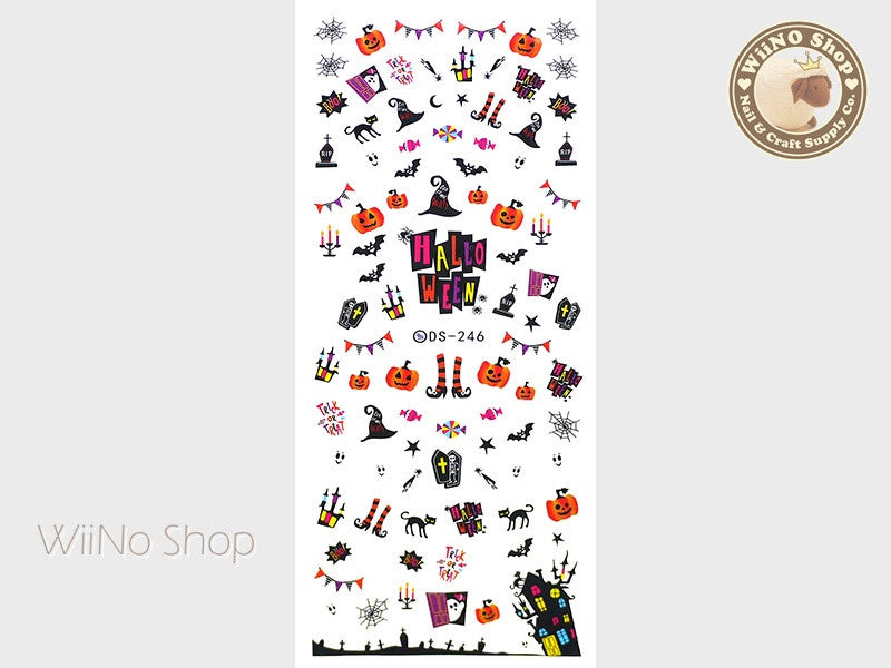 Halloween Party Water Slide Nail Art Decals - 1pc (DS-246)