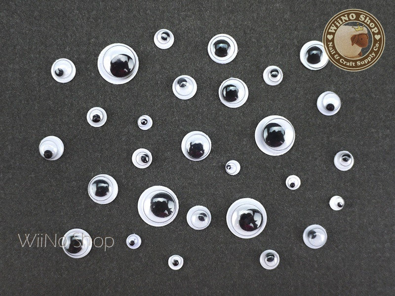 Googly Rolling Eye Nail Art Decoration 3/4/5/6/8mm