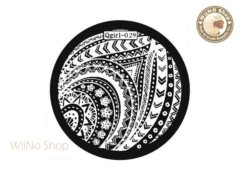 Qgirl-029 Nail Art Stamping Plate Template