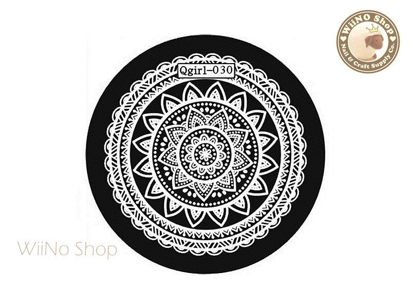 Qgirl-030 Nail Art Stamping Plate Template