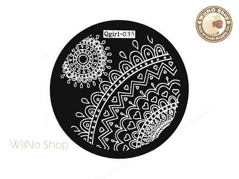Qgirl-035 Nail Art Stamping Plate Template