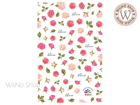 Roses Adhesive Nail Art Sticker - 1 pc (R004)