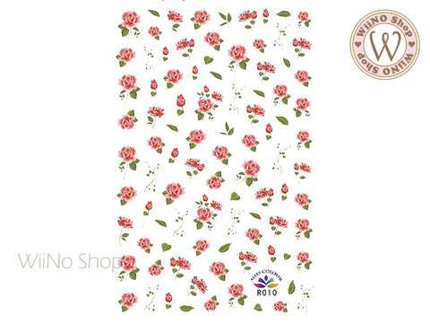 Pink Roses Adhesive Nail Art Sticker - 1 pc (R010)