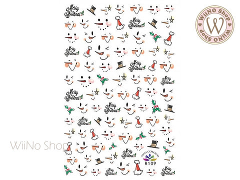 Snowman Adhesive Nail Art Sticker - 1 pc (R109)