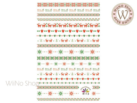 Sweater Pattern Adhesive Nail Art Sticker - 1 pc (R113)