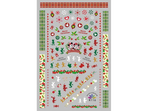 Merry Christmas Adhesive Nail Art Sticker - 1 pc (R116)