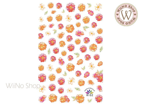 Cosmos Flower Adhesive Nail Art Sticker - 1 pc (R152)