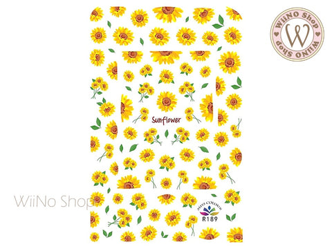 Sunflower Adhesive Nail Art Sticker - 1 pc (R189)
