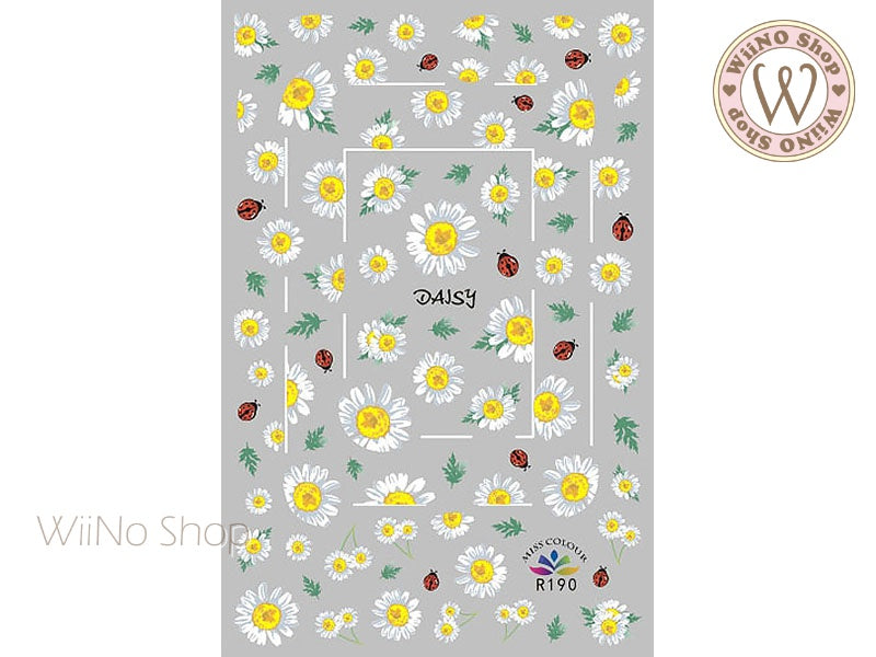 Daisy Adhesive Nail Art Sticker - 1 pc (R190)