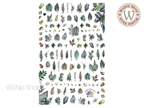 Leaves Adhesive Nail Art Sticker - 1 pc (R191)