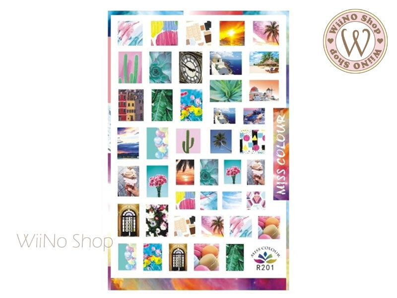 Paradise Photographic Adhesive Nail Art Sticker - 1 pc (R201)