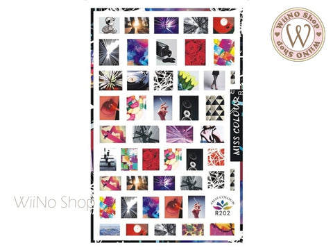 Photographic Adhesive Nail Art Sticker - 1 pc (R202)