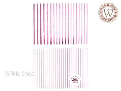 Pink Chrome Line Adhesive Nail Art Sticker - 1 pc (R204)