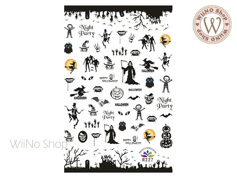 Halloween Adhesive Nail Art Sticker - 1 pc (R227)