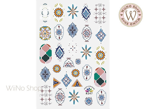 Moroccan Pattern Adhesive Nail Art Sticker - 1 pc (R347)