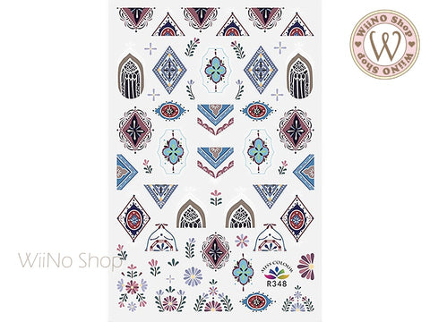 Moroccan Pattern Adhesive Nail Art Sticker - 1 pc (R348)