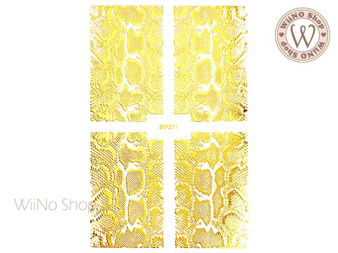 Gold Snake Print Adhesive Nail Art Sticker - 1 pc (SP211)