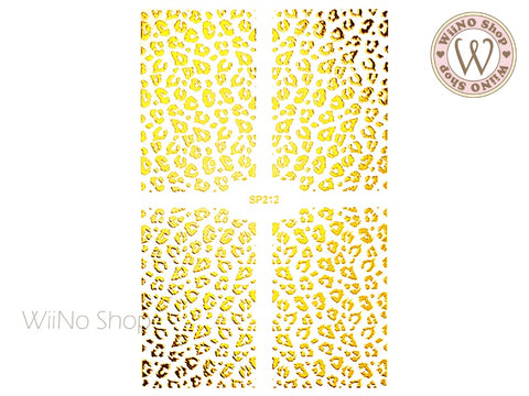 Gold Leopard Print Adhesive Nail Art Sticker - 1 pc (SP212)