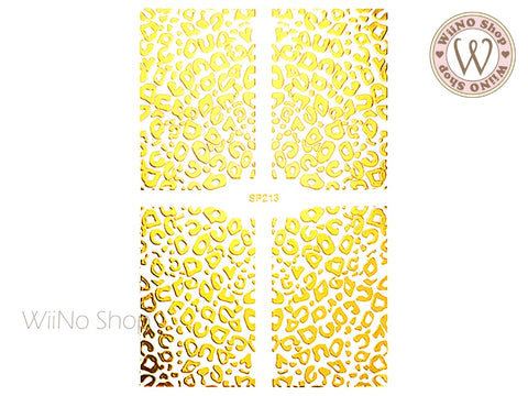 Gold Leopard Print Adhesive Nail Art Sticker - 1 pc (SP213)
