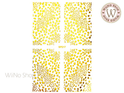Gold Cheetah Print Adhesive Nail Art Sticker - 1 pc (SP217)