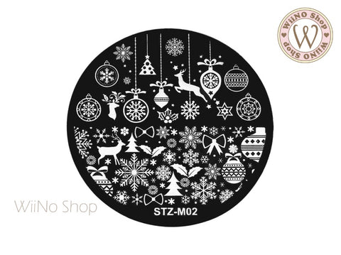 Christmas Nail Art Stamping Plate Template (STZ-M02)