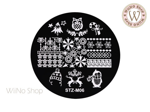Christmas Nail Art Stamping Plate Template (STZ-M06)