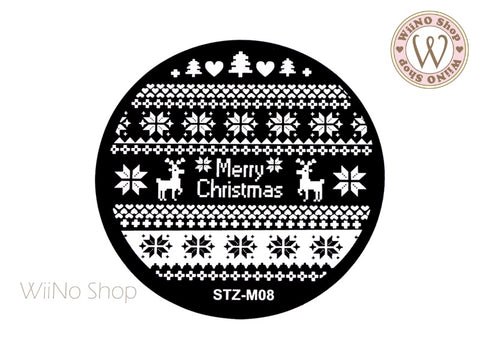 Sweater Pattern Nail Art Stamping Plate Template (STZ-M08)
