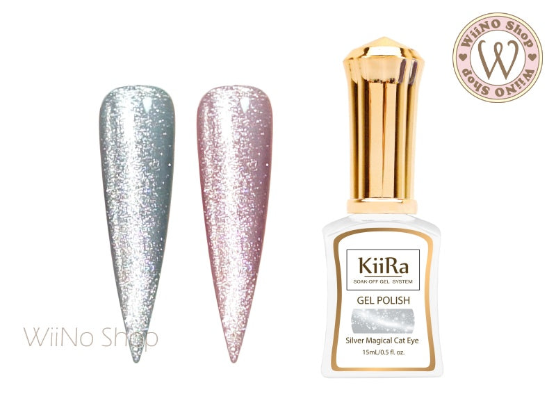 KiiRa Silver Magical Cat Eye Gel Polish