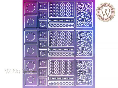 Circle Dots Holographic Film Adhesive Sticker - 1 pc (TTZ01-10)