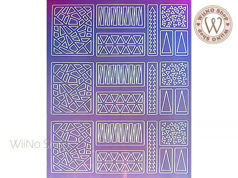 Triangle Holographic Film Adhesive Sticker - 1 pc (TTZ01-11)