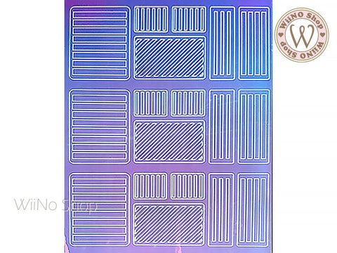 Line Holographic Film Adhesive Sticker - 1 pc (TTZ01-12)