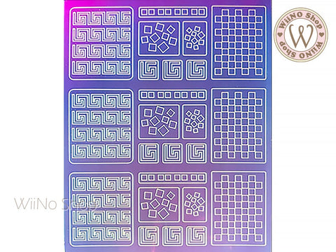 Square Holographic Film Adhesive Sticker - 1 pc (TTZ01-14)