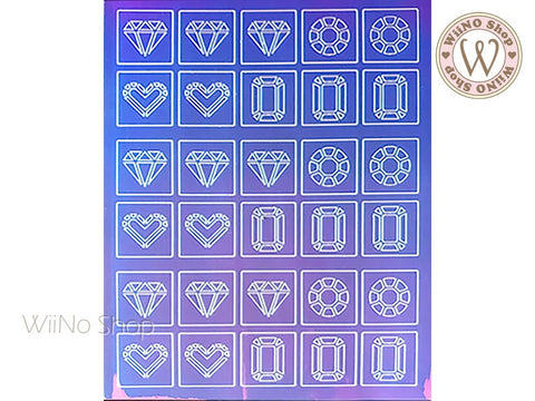 Diamond Holographic Film Adhesive Sticker - 1 pc (TTZ01-24)