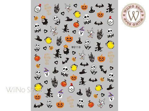 Halloween Adhesive Nail Art Sticker - 1 pc (WG118)