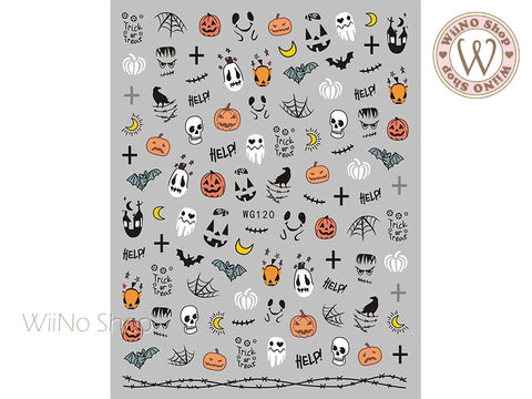 Halloween Adhesive Nail Art Sticker - 1 pc (WG120)