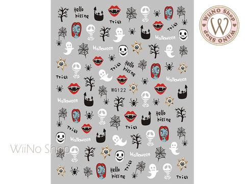 Halloween Adhesive Nail Art Sticker - 1 pc (WG122)