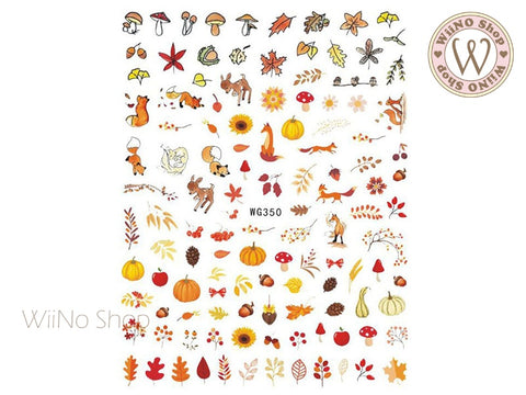 Autumn Forest Adhesive Nail Art Sticker - 1 pc (WG350)