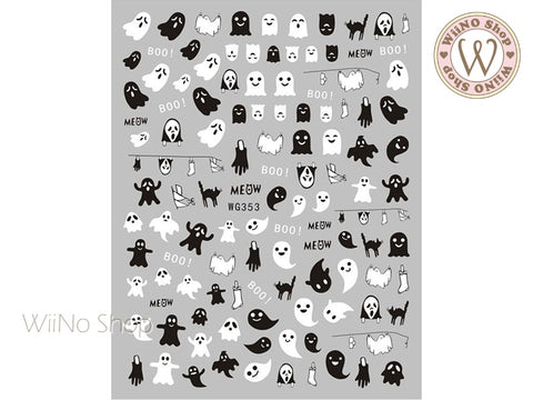 Halloween Adhesive Nail Art Sticker - 1 pc (WG353)