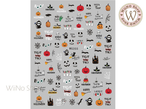 Halloween Adhesive Nail Art Sticker - 1 pc (WG355)