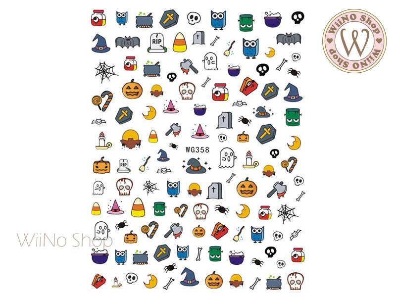 Halloween Adhesive Nail Art Sticker - 1 pc (WG358)