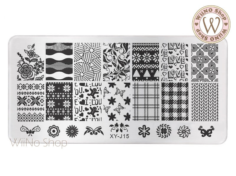 XY-J15 Nail Art Stamping Plate Template