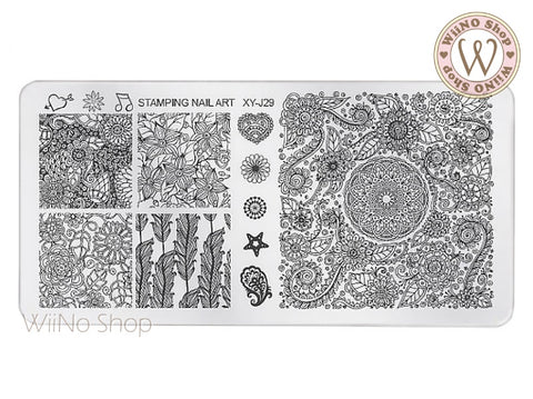 XY-J29 Nail Art Stamping Plate Template