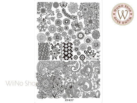 XY-K17 Nail Art Stamping Plate Template
