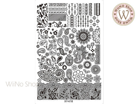 XY-K18 Nail Art Stamping Plate Template