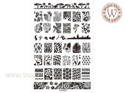 XY-K24 Nail Art Stamping Plate Template